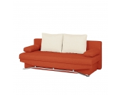 Schlafsofa Lenni - Webstoff Orange, mooved
