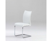 Freischwingerstuhl in Weiß Kunstleder