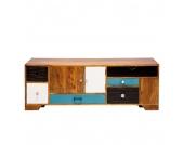 Lowboard Babalou - Mango massiv - 3-türig mit 6 Schubladen, Kare Design