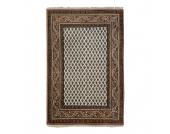 Teppich-Indo Mir Dehli Beige - Reine Wolle - 90 x 160 cm, Parwis