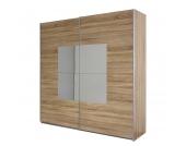 Schwebetürenschrank Corridore - Eiche Sonoma Dekor/Spiegel - Schrankbreite: 136 cm - 2-türig, Rauch Packs