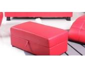 Kasper Wohndesign Lounge - Polsterhocker Truhe NEW LOFT Lederimitat rot