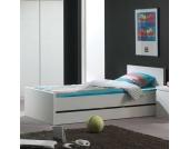 Einzelbett mit Bettschublade Stauraum