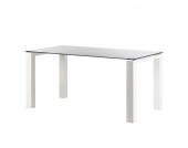 Glastisch Palma - Weiß lackiertes Glas/Lack Weiß - 160 x 90 cm, Niehoff