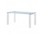 Glastisch Palma - Satiniertes Glas - Weiß - 160 x 90 cm, Niehoff