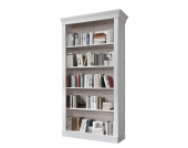 Bücherregal Bergen - Kiefer massiv - Weiß, Landhaus Classic