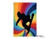 Kinderteppich Maui - Farbenstrudel - 100x160cm, Theko die markenteppiche