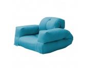 Schlafsessel Hippo - Futon Blau, Karup