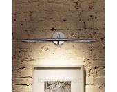 Drehbare LED-Bilderleuchte Siena chrom