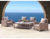 Lounge Set Lanzarote 13 teilig mit Glastisch