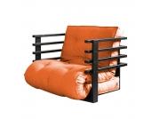 Schlafsessel Funk - Webstoff - Schwarz / Orange, Karup
