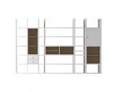 XXL Regalwand Emporior V.A - Ohne Beleuchtung - Weiß / Eiche Sonoma Dekor, loftscape