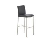 Edelstahl Barhocker FREEPORT mit Kunstlederbezug - aus bis zu 11 Farben wählen - Sitzhöhe 76 cm, Polsterstärke 5 cm, einfach bequem sitzen