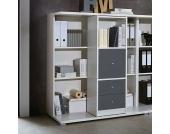 Büroregal in Weiß Schiebbar