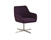 moderner, weich gepolsterter Lounge-Sessel BENDER mit Edelstahlgestell (aus bis zu 4 Farben wählen)