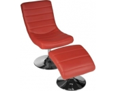 ergonomischer Lounge Sessel NIZZA mit Hocker, drehbar