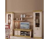 Wohnzimmer Anbauwand im Landhausstil Kiefer Massivholz (5-teilig)