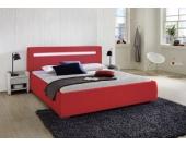 Cats Collection Design Lederbett 180 x 200cm rot mit LED Leiste
