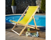 Liegestuhl in Gelb Holz