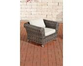 Polyrattan Sessel VIVARI mit GRATIS Sitz- und Rückenkissen, 5mm Rundrattan, ALU Gestell, 100% rostfrei, aus bis zu 2 Polster-Farben wählen