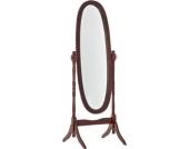 klassischer runder Holz-Standspiegel CORA im Landhausstil, Größe 150 x 60 cm