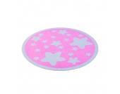 Kinderteppich Sterne rund - Pink, Zala Living