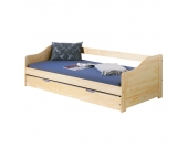 Funktionsbett Laura - Kiefer massiv - Natur - 90 x 190cm, Interlink