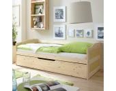 Massivholzbett mit Bettkasten Gästebett