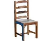 Esszimmer Holz-Stuhl KNUD, massives recyceltes Teakholz, Sitzhöhe 47 cm