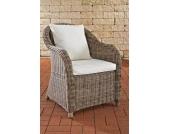 Polyrattan Sessel FARSUND mit GRATIS Sitz- und Rückenkissen, 5mm Rundrattan, ALU Gestell, 100% rostfrei