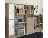 Büromöbel Set in Eiche Dekor Weiß (5-teilig)