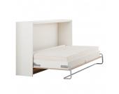 Schrankbett Godia - 90 x 200cm - Ohne Matratze - Weiß / Eiche Sonoma Dekor, Modoform
