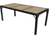 heute-wohnen Poly-Rattan Gartentisch Ariana, Tisch Esszimmertisch, 150x90cm WPC
