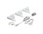 LED-Unterbauleuchte Pinotage II 3-flammig - Weiß Metall, StarLicht