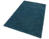 my home Hochflor-Teppich »Finn«, blau, 280x390 cm