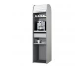 Büroschrank Dancer - Silber - Weiß - Ohne Kühlschrank, MS Schuon