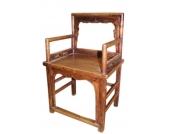 China ca 1910 prachtvoller Holzstuhl im klassischen Stil