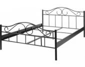 Metallbett Bett Metall schwarz 140 x 200 cm