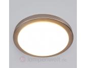 Schlichte LED-Badleuchte Aras, nickel matt