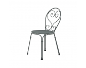 Stuhl Pigalle - Stahlrohr Antikeisen, Emu