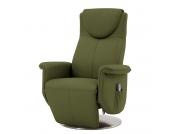 Massagesessel Colby - Echtleder - Einmotorige Verstellung - Olivgrün, Nuovoform