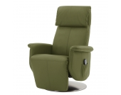 Massagesessel Blake - Echtleder - Einmotorige Verstellung - Olivgrün, Nuovoform