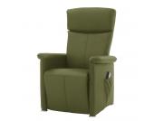 Massagesessel Broderick - Echtleder - Einmotorige Verstellung - Olivgrün, Nuovoform