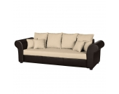 Big Sofa Modane - Webstoff / Kunstleder - Beige/Braun, roomscape