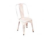 Stuhl in Weiß antik Metall (4er Set)