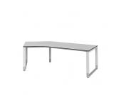 Höhenverstellbarer Schreibtisch in Weiß Grau