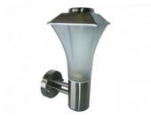 Außenlampe / Außenleuchte Designo 1 Aluminium mit Glaseinsatz, Silber