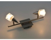 2-flutiger Deckenstrahler Metall gebürstet 230V G9/40W