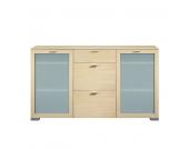 Sideboard Gallery - Ahorn Dekor - Floatglastüren, Arte M