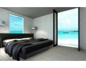 Ocean Mono Wasserbett, 160 x 200 cm, schwarz, F5